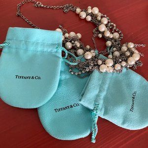 Authentic Tiffany & Co. jewelry bags.